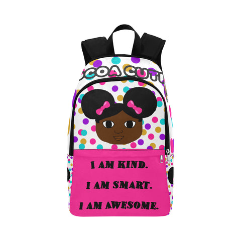"""I AM"" Cocoa Cutie Canvas Backpacks(4 Skintones)-Girl"