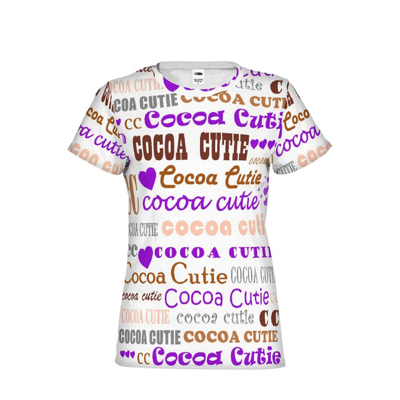 I HEART COCOA CUTIE- PURPLE Women's Performance Tee