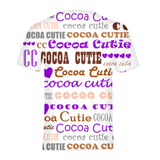 I HEART COCOA CUTIE-PURPLE Kids Performance Tee