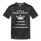 I Am A Cocoa Cutie Toddler Cotton Premium T-Shirt(Prince) - charcoal gray