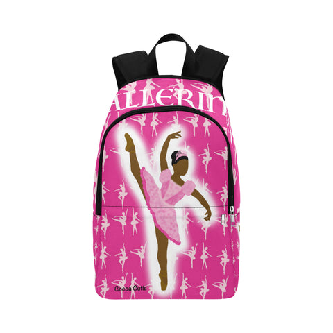 Ballerina Cocoa Cutie Canvas Backpacks(2 Skintones/3 Colors)