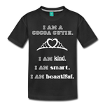 I Am A Cocoa Cutie Kid's Premium Cotton Tee(Princess) - black
