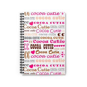 I Heart Cocoa Cutie PINK Spiral Notebook - Ruled Line