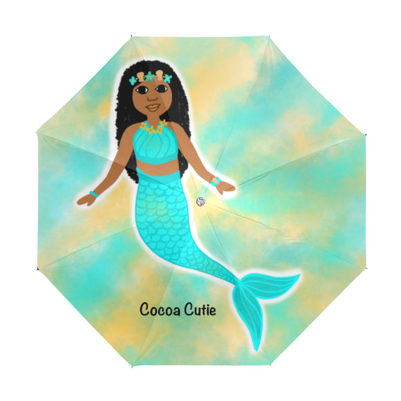 Blue Mermaid Jordyn Anti-UV Foldable Umbrella