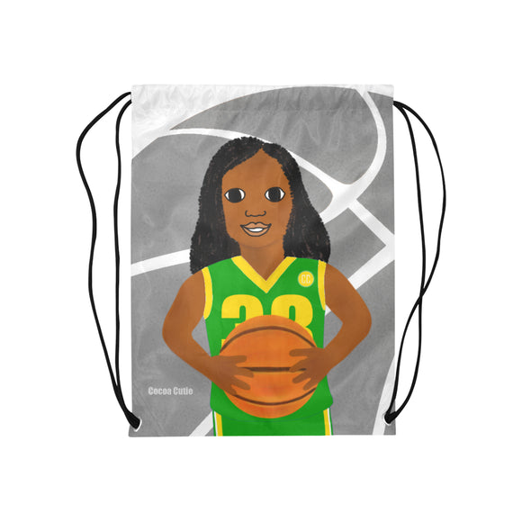 Basketball Cocoa Cutie Drawstring Backpacks(3 Colors)-Girl