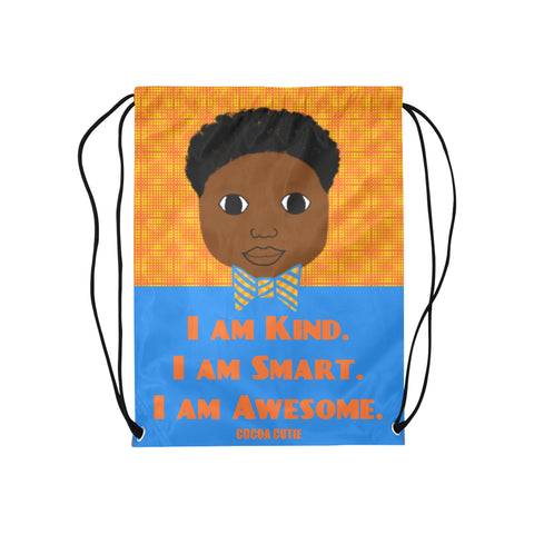 """I AM"" Cocoa Cutie Drawstring Backpacks(2 Skintones)-Boy"