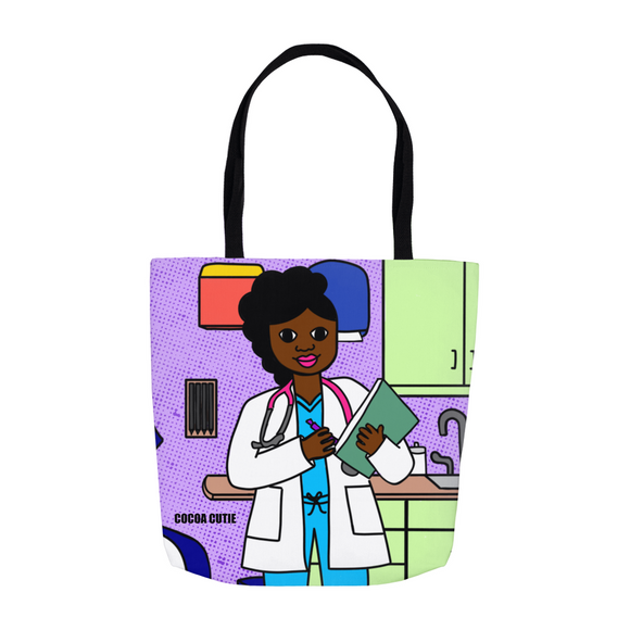 Medical Professional Doctor/Nurse Cocoa Cutie Yanna Shoulder Tote Bags