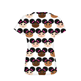 AFRO PUFFS AND PINK BOWS COCOA CUTIES Women's Performance Tee