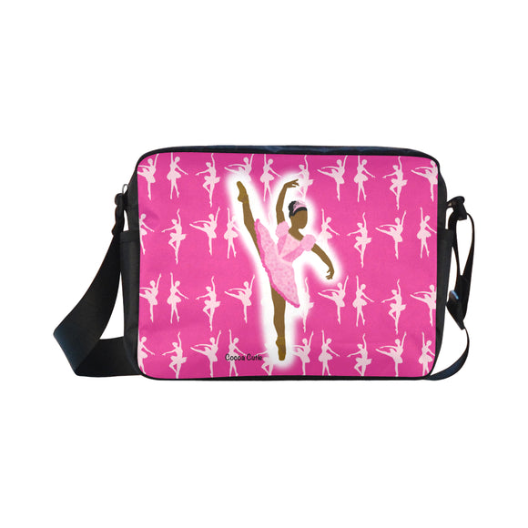 Dance & Ballerina Crossbody (Perfect for Toddlers)-Travel/Practice Dance Bag