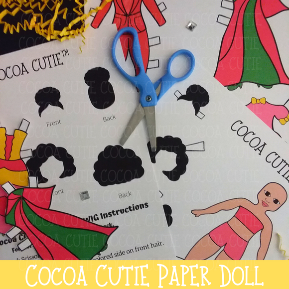 Cocoa Cutie Paper Doll-Full Color/Light Skin(DIGITAL DOWNLOAD)
