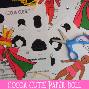 Cocoa Cutie Paper Doll-Full Color/Dark Skin(DIGITAL DOWNLOAD)