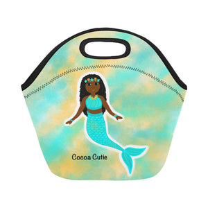 Blue Mermaid Cocoa Cutie Lunch Totes Neoprene(3 Skintones)