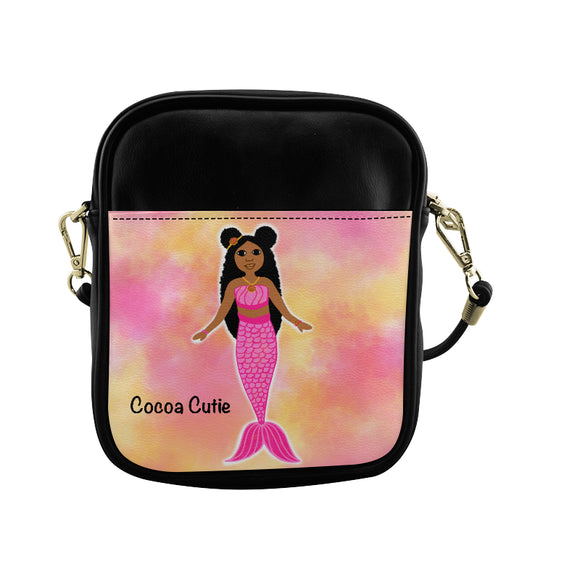 Pink Mermaid Jordyn Cocoa Cutie Sling Purse Faux Leather