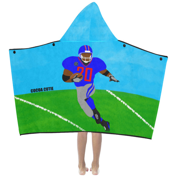 Football Cutie Kid's Hooded Bath/Beach Towel(Two Colors) Boy