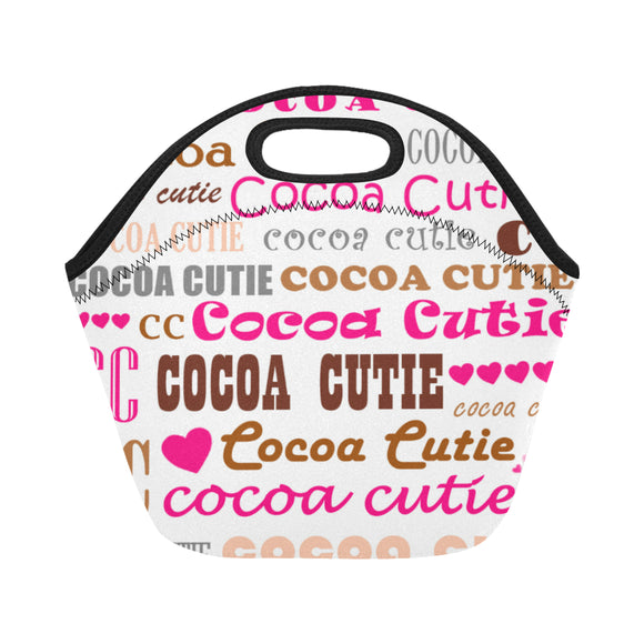 I Heart Cocoa Cutie Lunch Totes Neoprene(3 Colors)