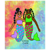 "Special Edition ""Be A Mermaid"" Blankets and Blanket Sets (THREE SIZES) Cocoa Cutie"