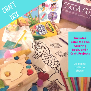 """Be A Mermaid"" Cocoa Cutie Deluxe Craft Box GIFT SET"