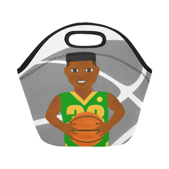 Basketball Cocoa Cutie Lunch Totes Neoprene(2 Colors)-Boy