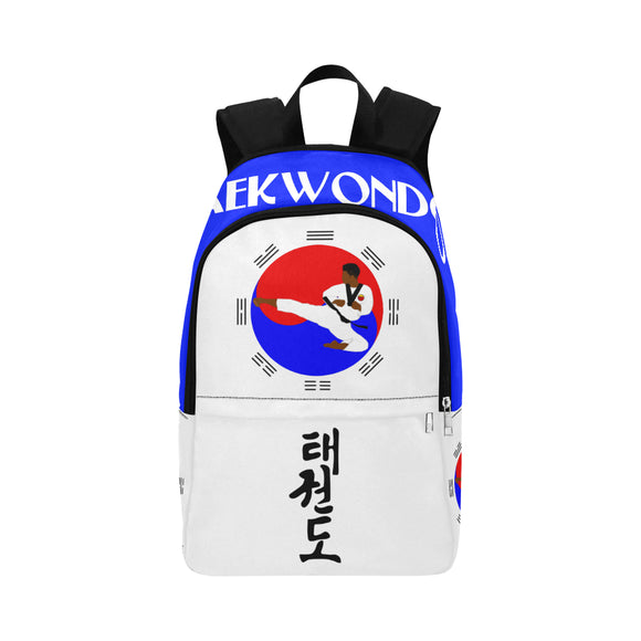 Taekwondo Cocoa Cutie Canvas Backpacks(2 Colors)-Boy