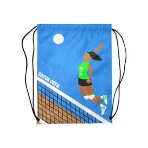 Volleyball Cocoa Cutie Drawstring Backpacks(2 Colors)-GIRL