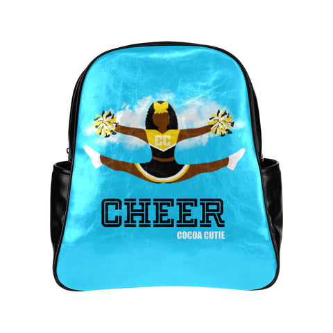 Cheerleader Cocoa Cutie Junior Faux Leather Backpacks(6 Colors)-Yanna/Dark Skin