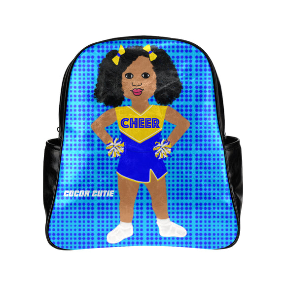 Shari Cocoa Cutie Cheerleader Junior Faux Leather Backpack