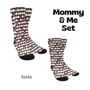Mommy & Me Afro Puffs Cocoa Cuties Sock Set