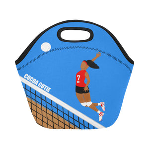 Volleyball Cocoa Cutie Lunch Totes Neoprene(2 Colors)-GIRL