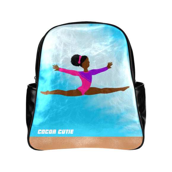 Gymnastics and Cheer Junior Faux Leather Backpacks(Three Designs)