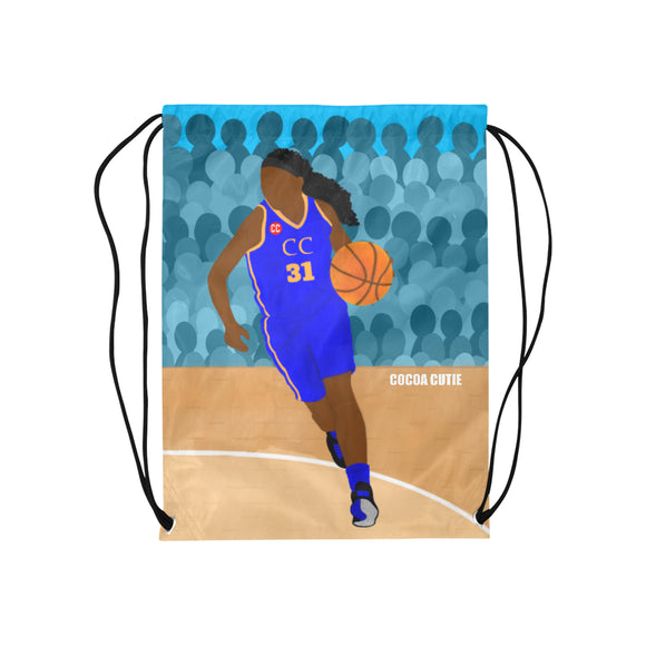Basketball Yanna Blue Drawstring Backpack-GIRL
