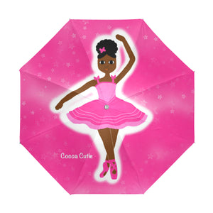Pink Dancer Yanna Anti-UV Foldable Umbrella