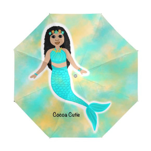 Blue Mermaid Kiara Anti-UV Foldable Umbrella