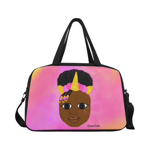 Unicorn Princess(Yanna) Cocoa Cutie Fitness/Travel Bag-Dark Skin