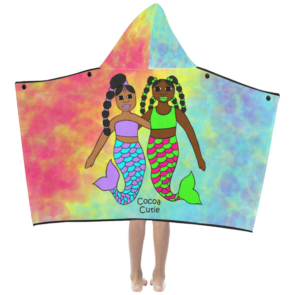Be A Mermaid Best Friends Cocoa Cutie Kids' Hooded Bath/Beach Towel