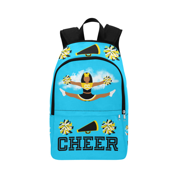 Cheerleader Cocoa Cutie Canvas Backpacks(6 Colors)-Jordyn/Medium Dark Skin Tone