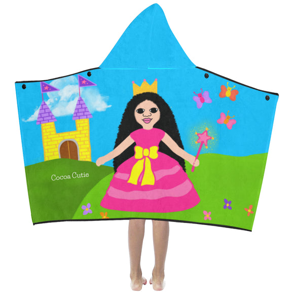 Princess Cocoa Cutie Kid's Hooded Bath/Beach Towel(Four Skin Tones)