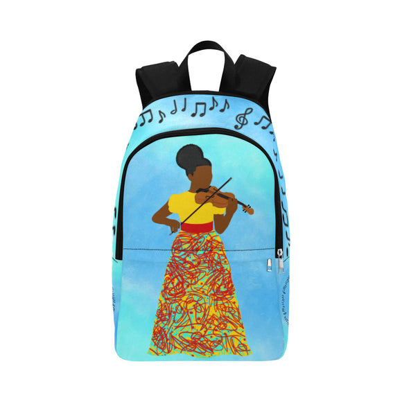 Violinist Yanna Canvas Backpack-Dark Skin