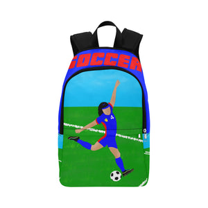 Soccer Cocoa Cutie Canvas Backpacks(2 Skintones)-Girl