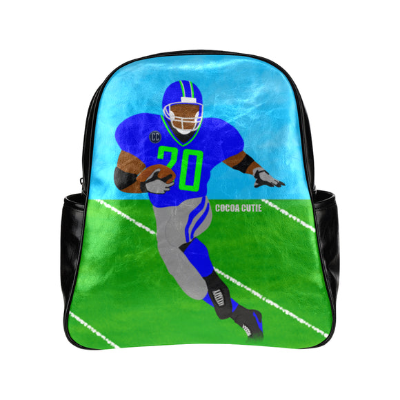 Football Cocoa Cutie Primary School Faux Leather Backpacks(3 Colors)-Boy