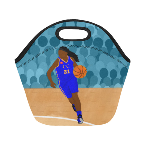 Basketball Yanna Blue Neoprene Lunch Tote-Girl