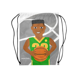 Basketball Cocoa Cutie Drawstring Backpacks(2 Colors)-Boy