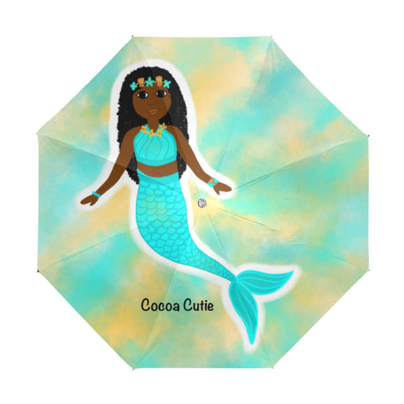 Blue Mermaid Yanna Anti-UV Foldable Umbrella
