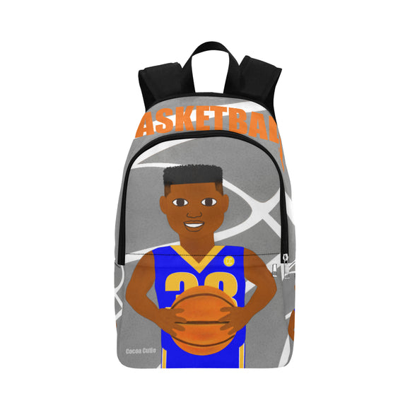 Basketball Cocoa Cutie Canvas Backpacks(2 Colors)-Boy