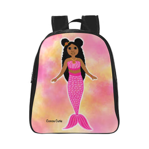 Mermaid Cocoa Cutie  Preschool/Toddler Faux Leather Mini Backpacks(Nine Designs)