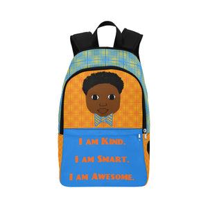 """I AM"" Cocoa Cutie Canvas Backpacks(2 Skintones)-Boy"