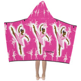 Ballerina Cocoa Cutie Kid's Hooded Bath/Beach Towel(Two Skin Tones/Two Colors)