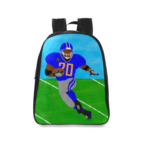 QUICK SHIP-BOY FOOTBALL FAUX LEATHER BACKPACKS