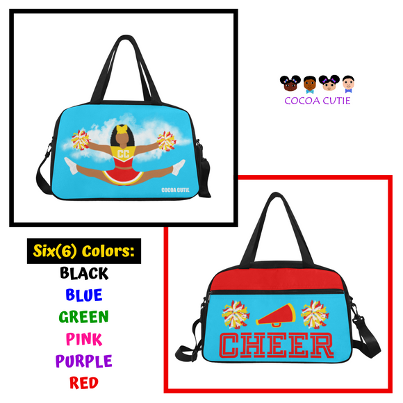 Cheerleader Cocoa Cutie Practice/Travel/Fitness Bag(6 Colors)-Jordyn/Medium Dark Skin