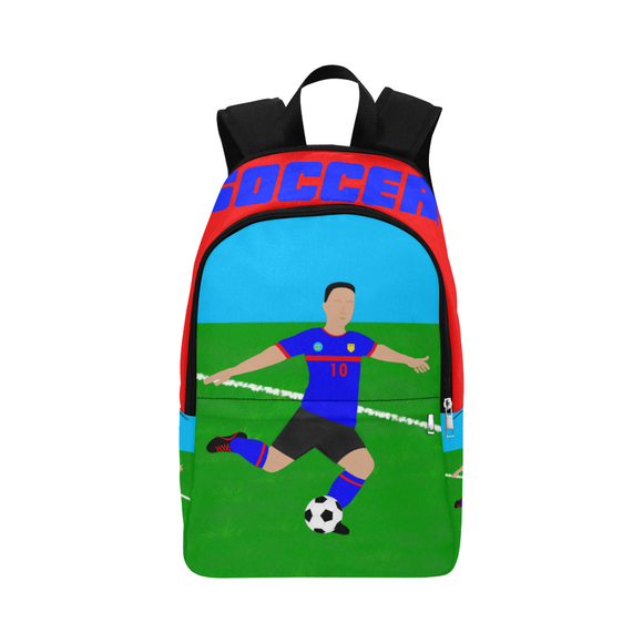 QUICK SHIP-BOY SOCCER CANVAS BACKPACKS(Two Skin Tones)