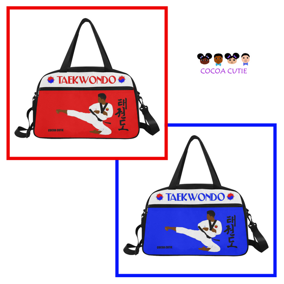 Taekwondo Cocoa Cutie Fitness Travel Practice Bags with Separate Shoe Compartment(2 Colors)-Boy